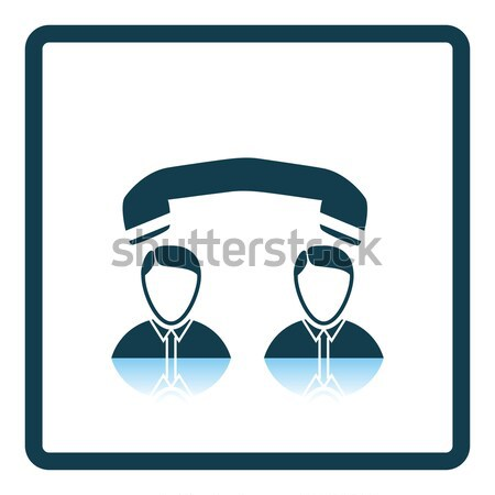 Flat design icon of Telephone conversation Stock photo © angelp