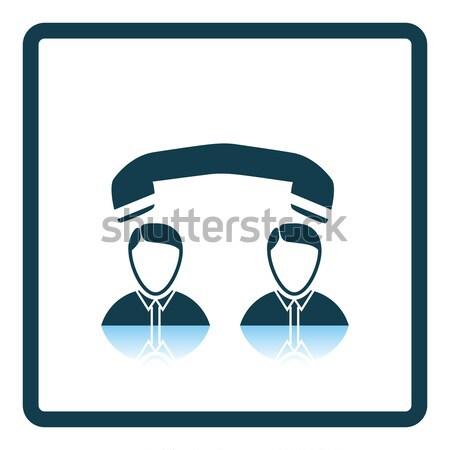 Diseno icono teléfono conversación ui colores Foto stock © angelp