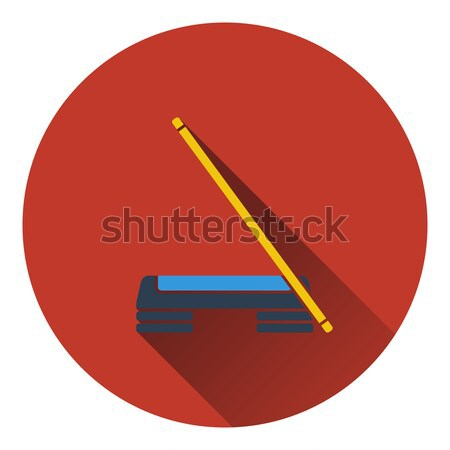 Icon of Step board and stick  Stock photo © angelp