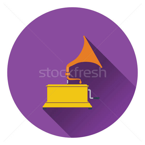 Gramofon ikon dizayn imzalamak kutu disko Stok fotoğraf © angelp