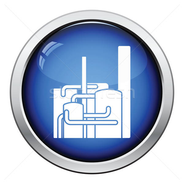 Chemical plant icon Stock photo © angelp