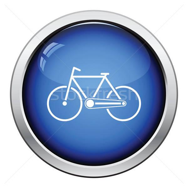 Ecologico bike icona lucido pulsante design Foto d'archivio © angelp