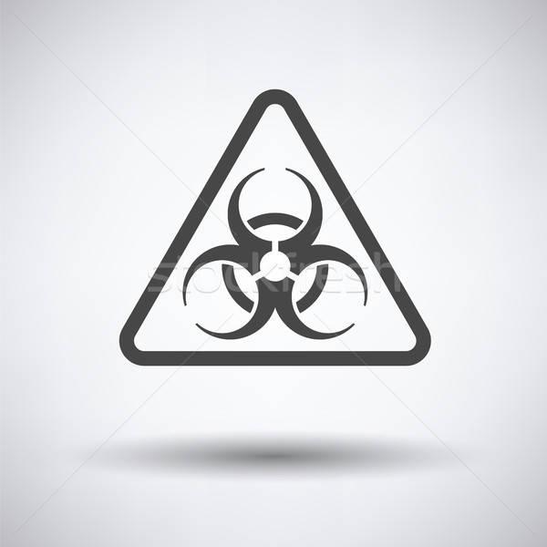 Ikon bioveszély orvosi felirat tudomány tanulás Stock fotó © angelp