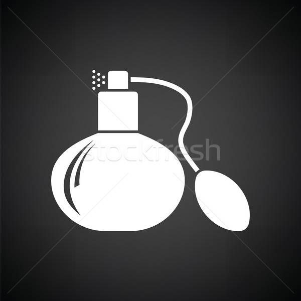 Colonia aerosol icono blanco negro negro vintage Foto stock © angelp