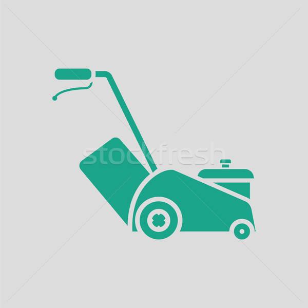 Fűnyíró ikon szürke zöld üzlet fű Stock fotó © angelp