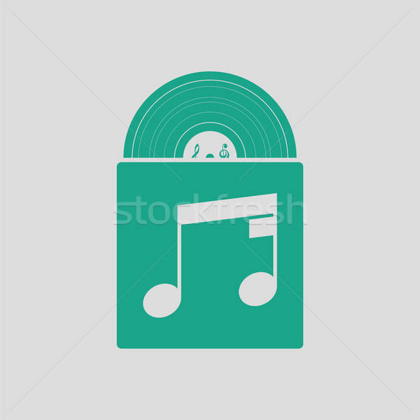 Vinyl record in envelope icon Stock photo © angelp