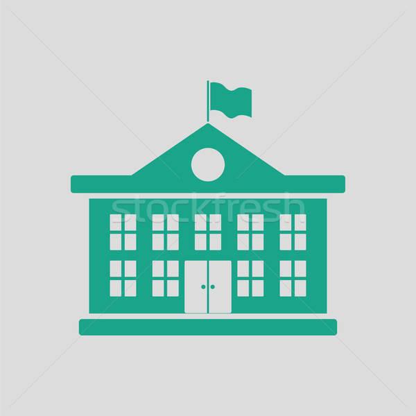 School building icon Stock photo © angelp