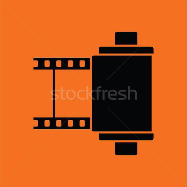 Fotó patron tekercs ikon narancs fekete Stock fotó © angelp