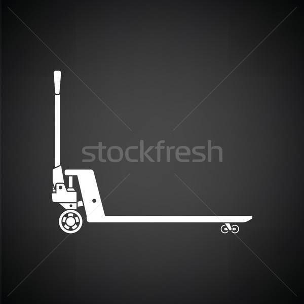 Hidrolik ikon siyah beyaz kamyon kutu sanayi Stok fotoğraf © angelp
