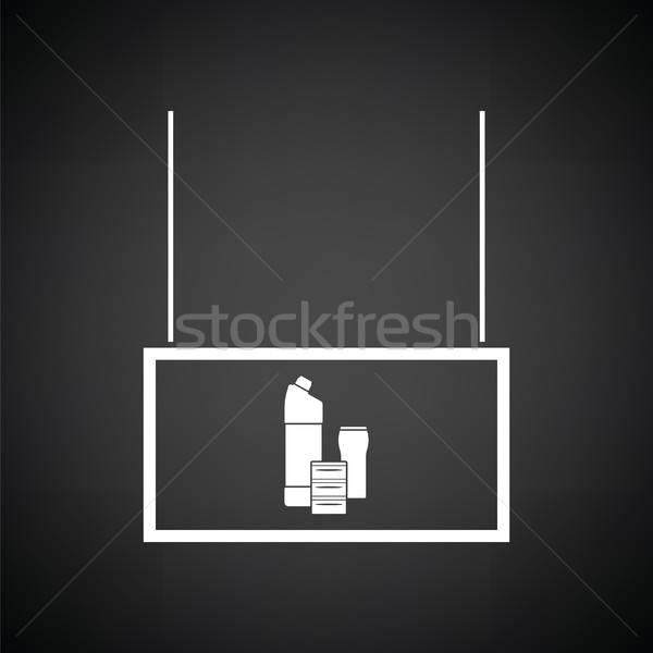 домашнее хозяйство химикалии рынке отдел икона черно белые Сток-фото © angelp
