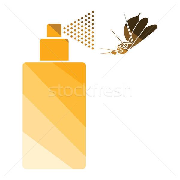 Zanzara spray icona colore design medicina Foto d'archivio © angelp