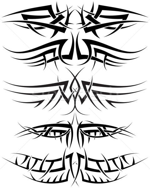 Tattoos ingesteld patronen Tribal tattoo ontwerp Stockfoto © angelp