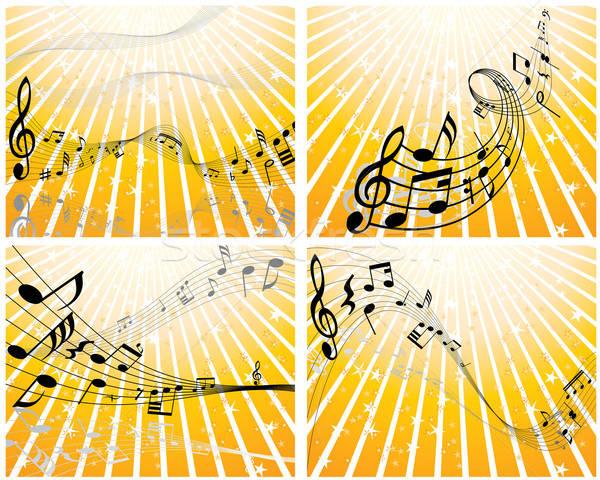 Note quatre vecteur notes de musique personnel Photo stock © angelp