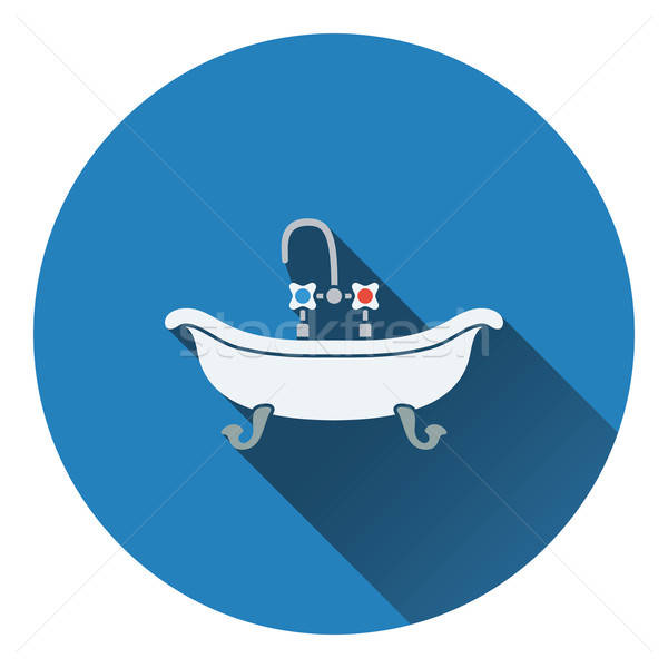 Vasca da bagno icona colore design acqua sfondo Foto d'archivio © angelp
