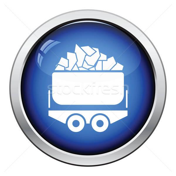 Mine coal trolley icon Stock photo © angelp