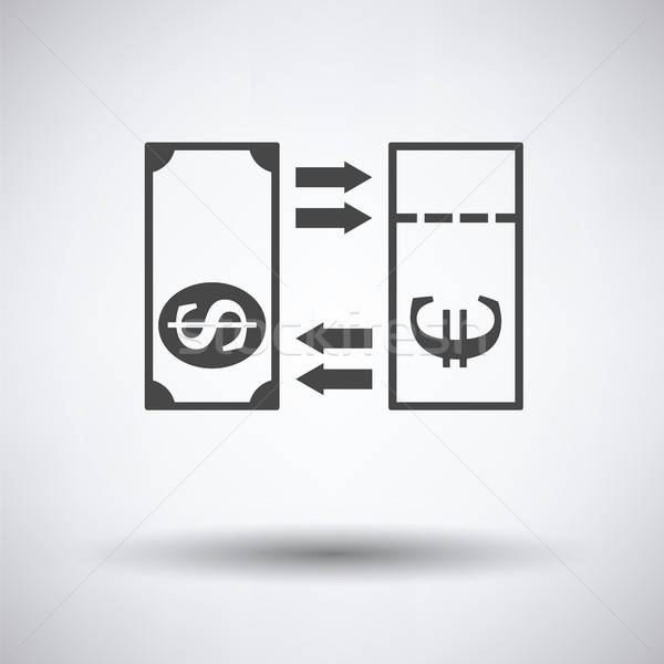 Valuta uitwisseling icon grijs business bank Stockfoto © angelp