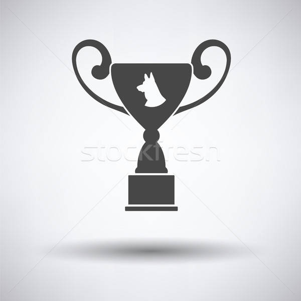 Dog prize cup icon Stock photo © angelp