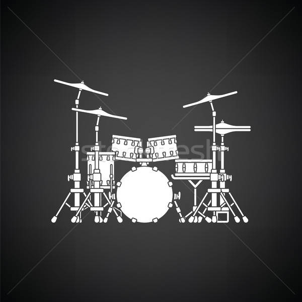 Drum set icon Stock photo © angelp