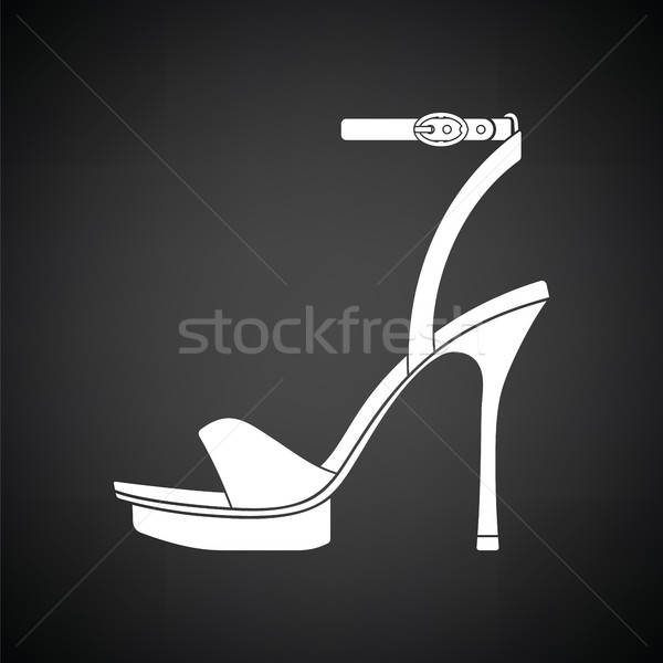 Woman high heel sandal icon Stock photo © angelp