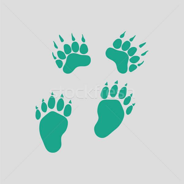 Tener icono gris verde fondo web Foto stock © angelp