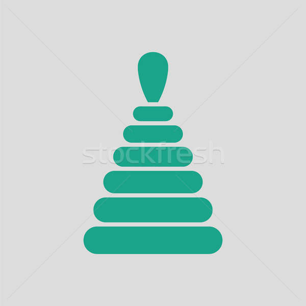 Pyramid toy ico Stock photo © angelp