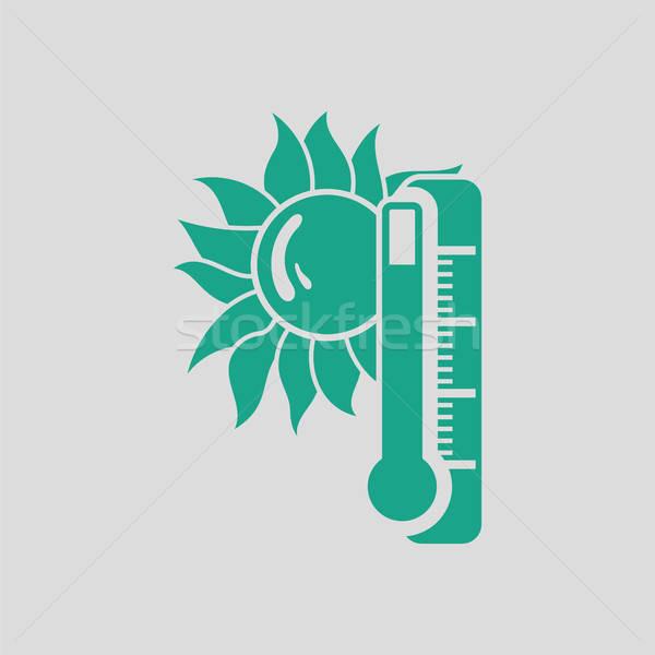 Verano calor icono gris verde sol Foto stock © angelp