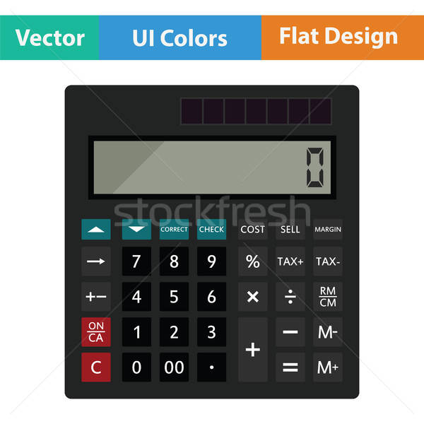 Statistical calculator icon Stock photo © angelp