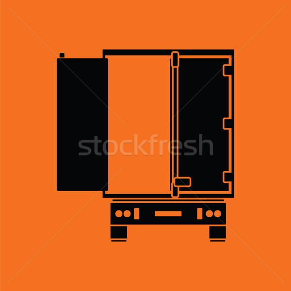 Truck trailer rear view icon Stock photo © angelp