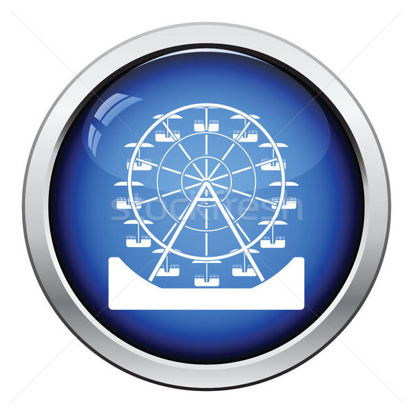 Ferris wheel icon Stock photo © angelp
