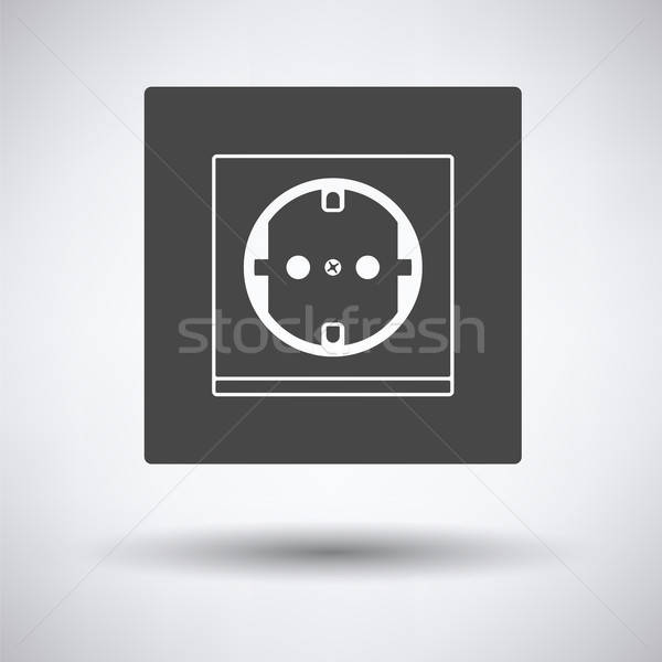 Europe electrical socket icon Stock photo © angelp
