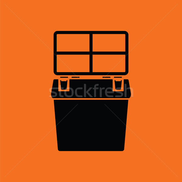 Icon of Fishing opened box Stock photo © angelp