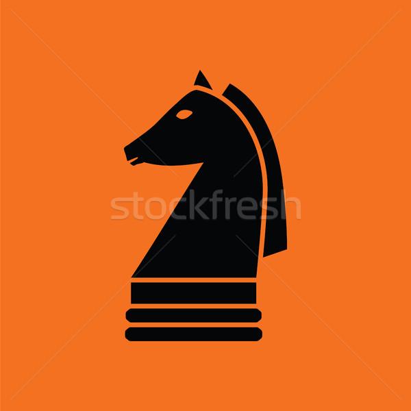 Chess horse icon Stock photo © angelp