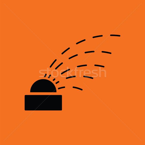 Automatyczny ikona pomarańczowy czarny charakter Zdjęcia stock © angelp
