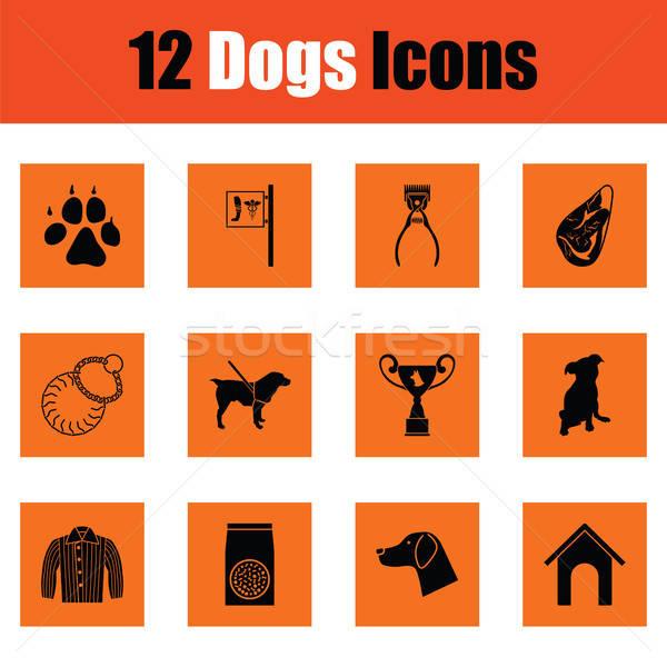 Dogs icon set Stock photo © angelp