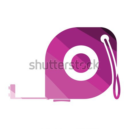 Ikona centymetrem kolor projektu narzędzie skali Zdjęcia stock © angelp