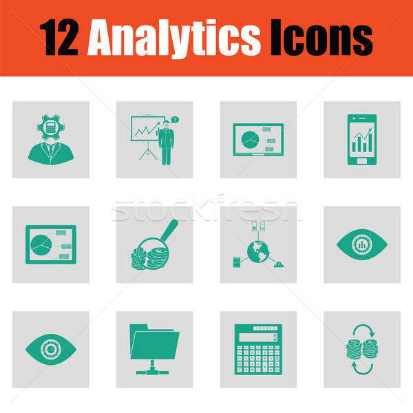 Analytics groene grijs ontwerp business Stockfoto © angelp