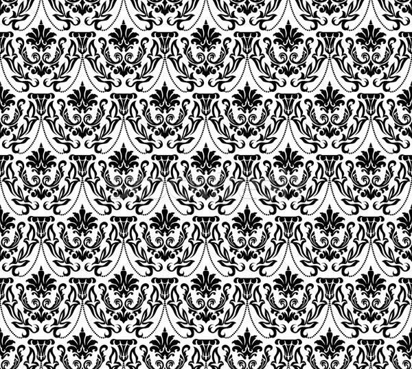 Damast naadloos vector patroon gemakkelijk Stockfoto © angelp