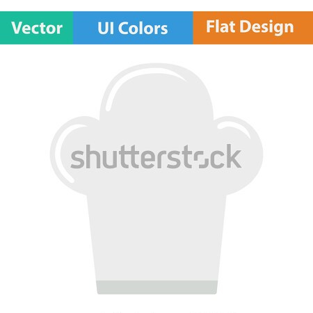 Flat design icon of Chief cap Stock photo © angelp