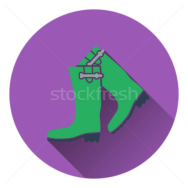 Icon of hunter's rubber boots Stock photo © angelp