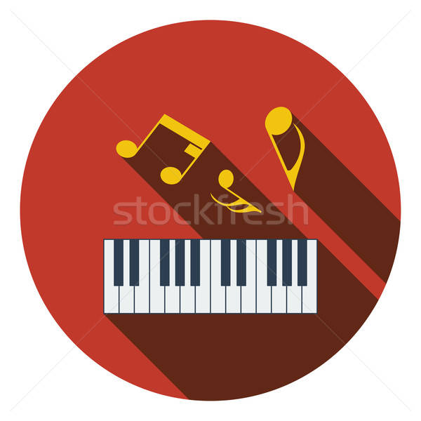 Design icône piano clavier ui couleurs Photo stock © angelp