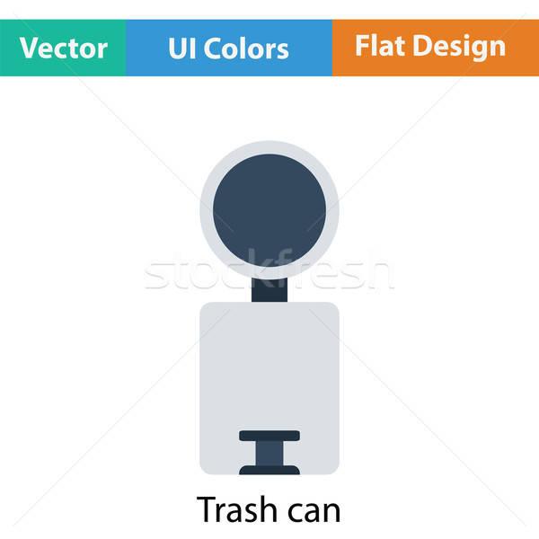 мусорное ведро икона цвета дизайна ванную чистой Сток-фото © angelp