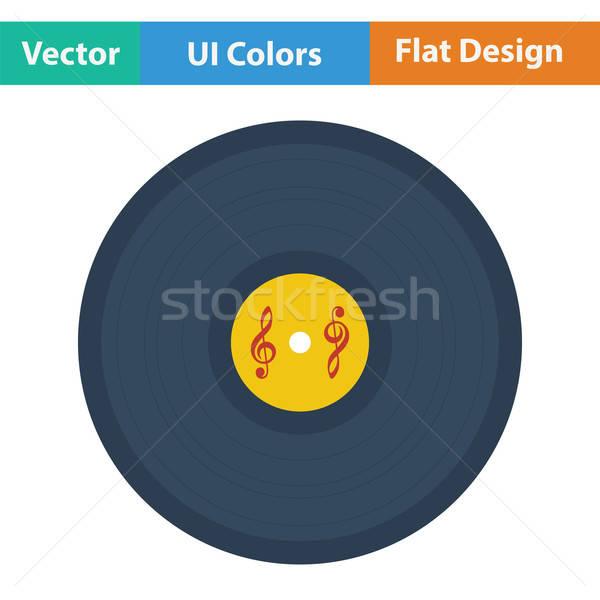 Stockfoto: Analoog · record · icon · kleur · ontwerp · disco