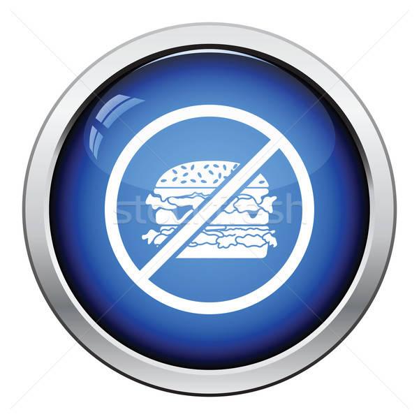 Prohibited hamburger icon Stock photo © angelp