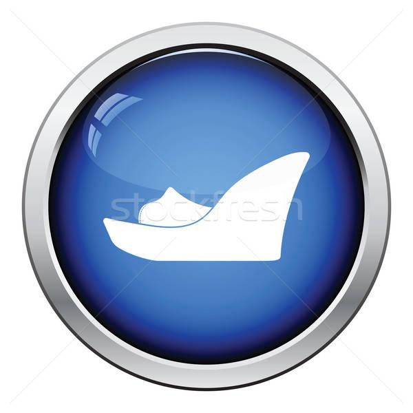 Platform shoe icon Stock photo © angelp