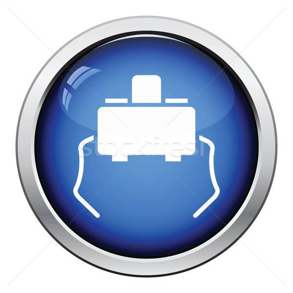 Micro pulsante icona lucido design contatto Foto d'archivio © angelp