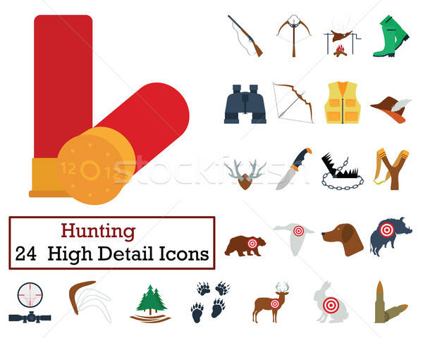 Set of 24 Hunting Icons Stock photo © angelp