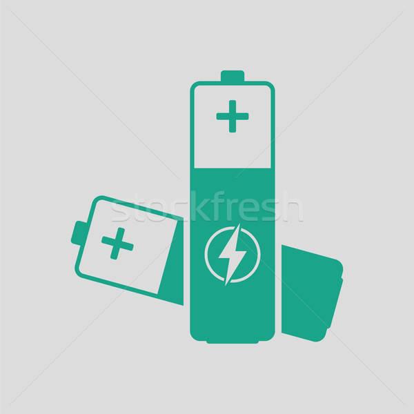 Elétrico bateria ícone cinza verde tecnologia Foto stock © angelp