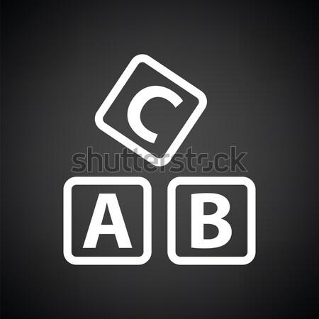 Box of bricks ico Stock photo © angelp