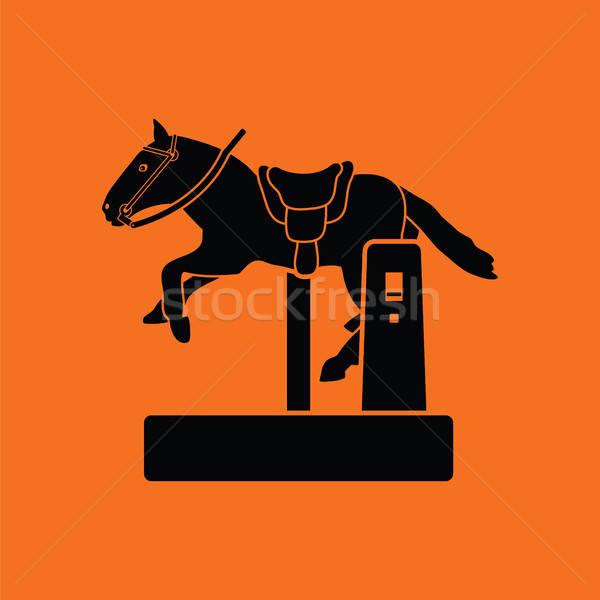 馬 マシン アイコン オレンジ 黒 赤ちゃん ストックフォト © angelp