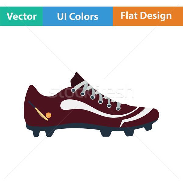 Csizma ikon sport fut festmény láb Stock fotó © angelp
